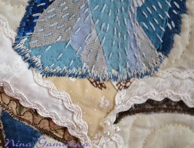 Как сделать текстильный коллаж.