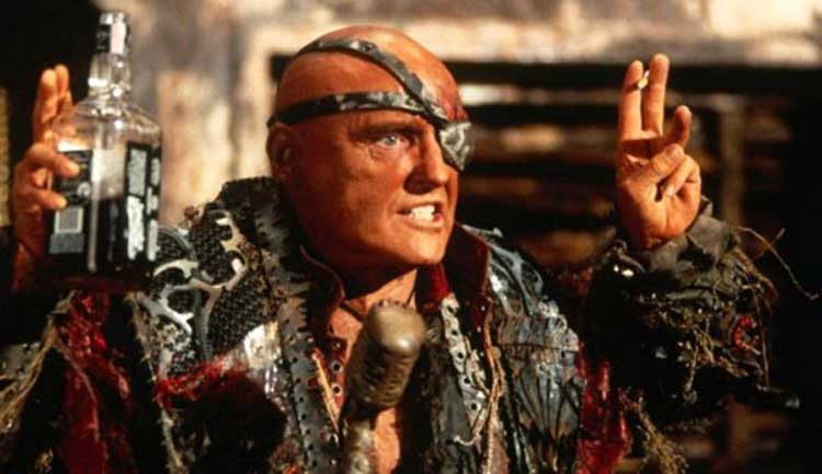 Dennis Hopper leads The Smokers in Waterworld.