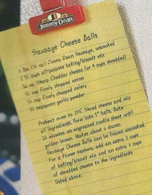 Aunt B Simply Living: Jimmy Dean Sausage Balls