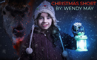 Girl holding a lantern, Reindeer, Free Horror Short Story