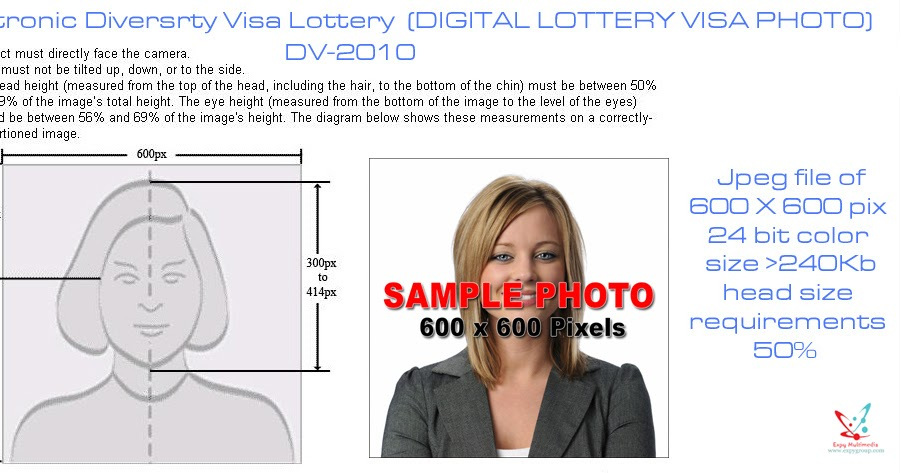 Expy Multimedia: Create your photo for the DV Green Card Lottery.