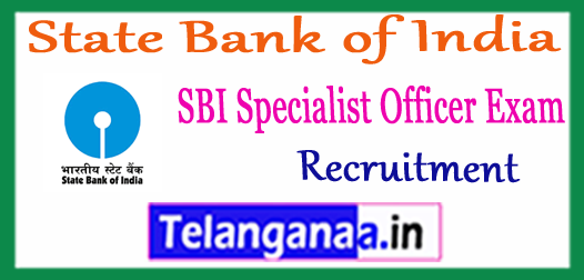 SBI State Bank of India Specialist Officer Recruitment 2018 Application Syllabus Pattern
