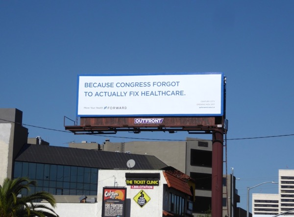 Congress healthcare Forward billboard
