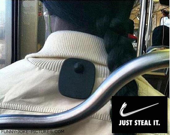 Funny Nike Just Steal It Designer Label Image