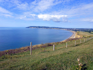 View From Culver to Luccombe across Sandown Bay