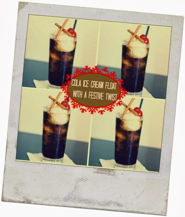 Cola Ice Cream Float With A Festive Twist