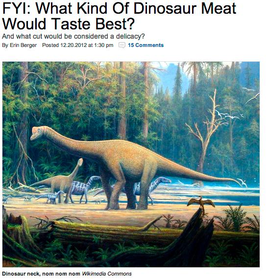 Hvilken Dinosaur Smaker Best Taptfunnet