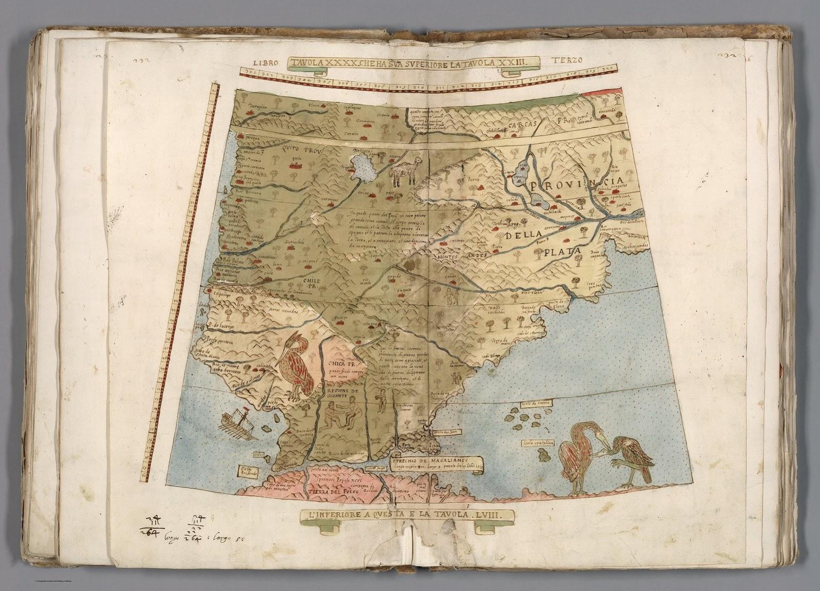 O mapa foi desenhado em partes que eram montadas