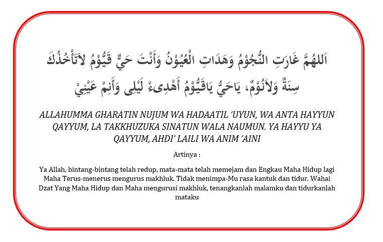 Doa Susah Tidur Malam Dalam Islam