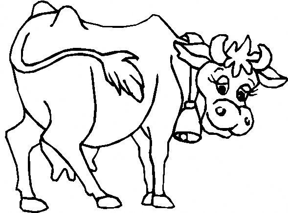 immagini di mucca da colorare