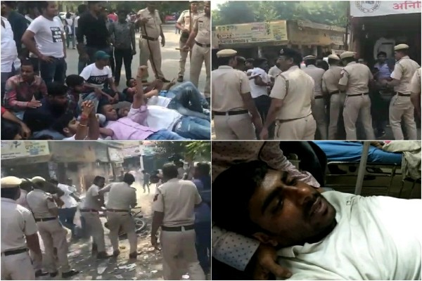 faridabad-police-lathicharge-outside-nehru-college-during-election