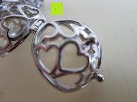 Verschluss: Morella® Damen Halskette Edelstahl 70 cm mit Herz-Kugel Anhänger und Klangkugel Ø 16 mm in Schmuckbeutel zur Farbauswahl