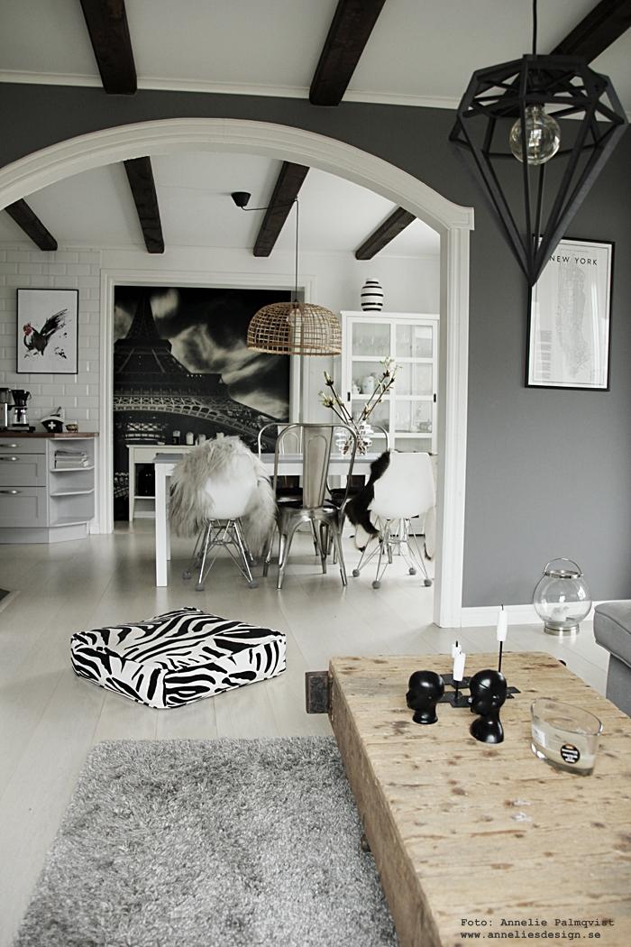 annelies design, webbutik, webshop, nätbutik, nettbutikk, inredning, vardagsrum, vardagsrummet,  lampa, döden, taklampa, taklampor, aveva design, raw, puff, hundbädd, zebra, isländska fårskinn, natures collection, matplats, stol, stolar, grått, grå, kök, köket, filterhållare, kors, eiffeltornet, fototapet,