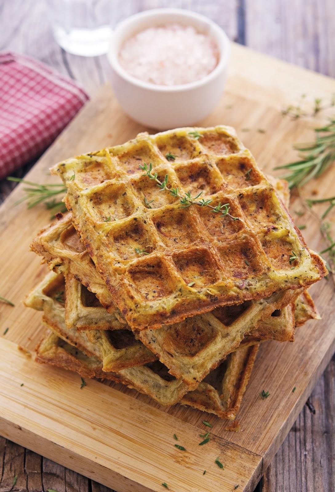 (Flourless) Herbed Potato Waffles