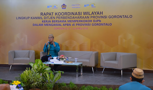 Keynote Speech by Kakanwil DJPb Provinsi Gorontalo