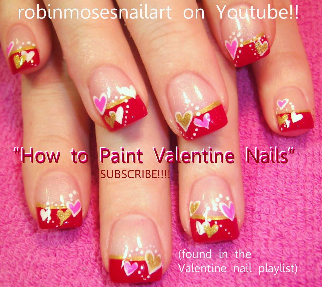 Nail Art Easy Heart: Robin Moses Nail Art: February 2012