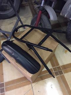 Telaietto posteriore BMW R45, R65,  R80, R100, cafe racer, moto BMW