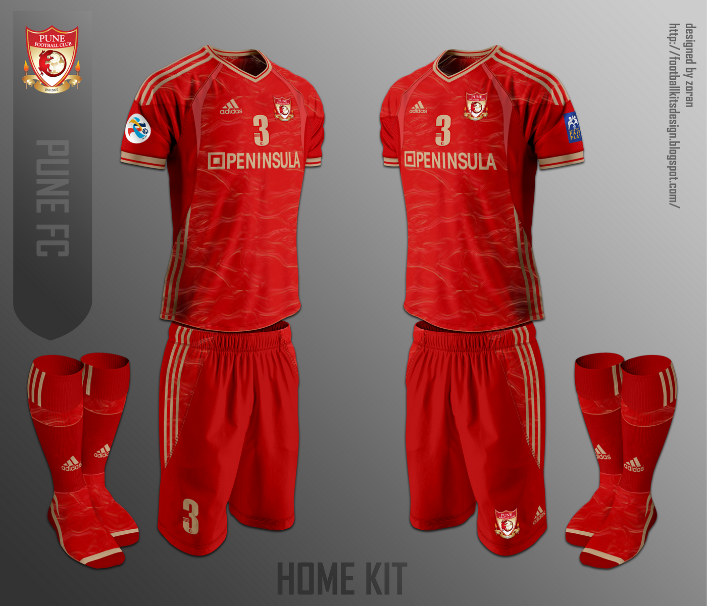 7af9ba362330 The home kit as presented in the Kit design competition from  DesignFootball.com