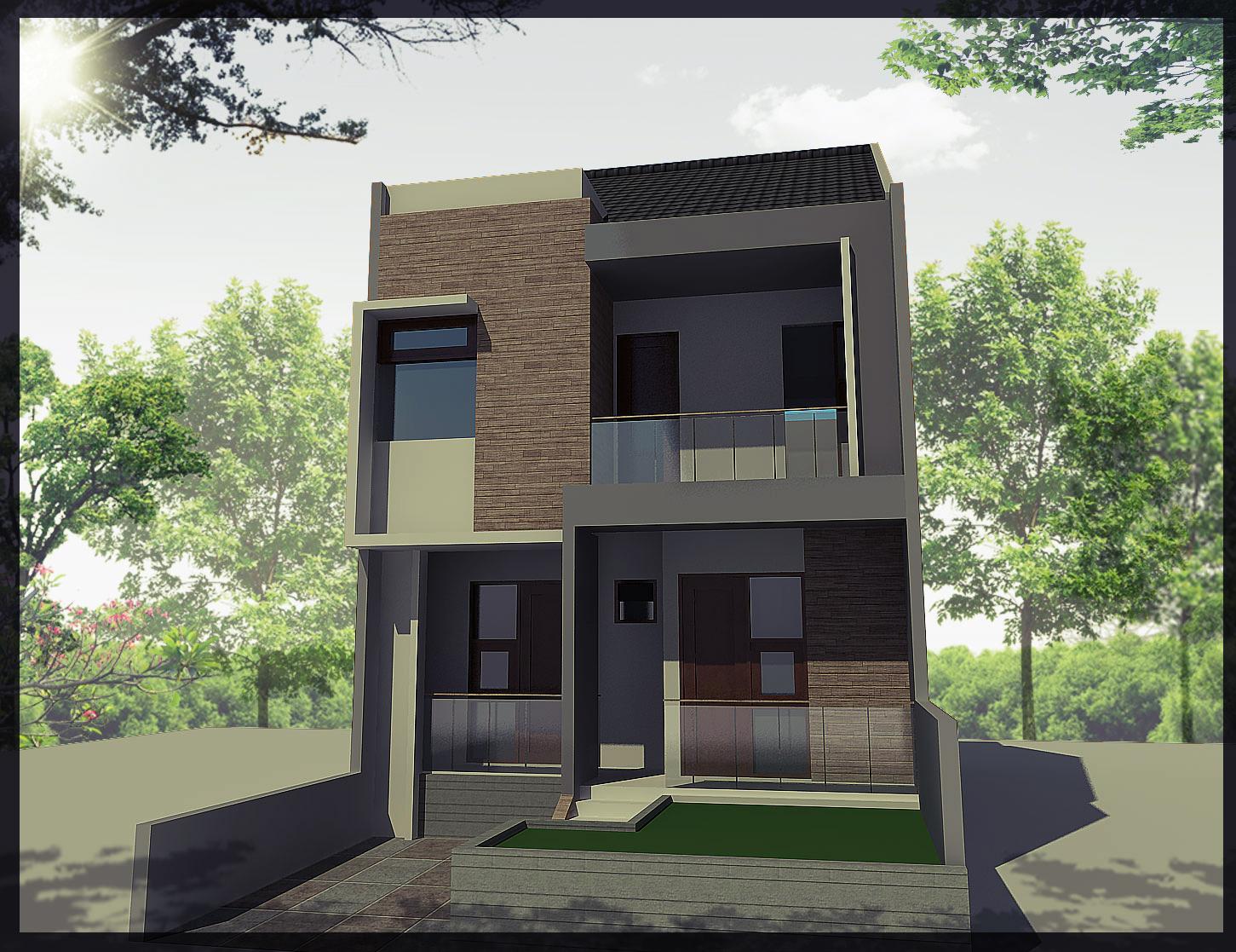 Desain Rumah Tingkat 2 Minimalis Modern  Rumah Minimalis