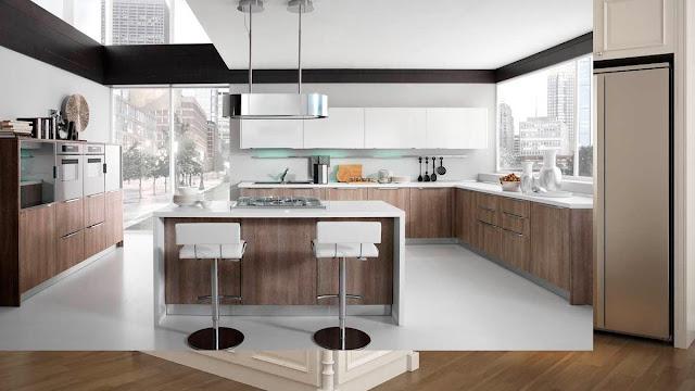 Mẫu tủ bếp Laminate hiện đại, phù hợp với không gian bếp rộng