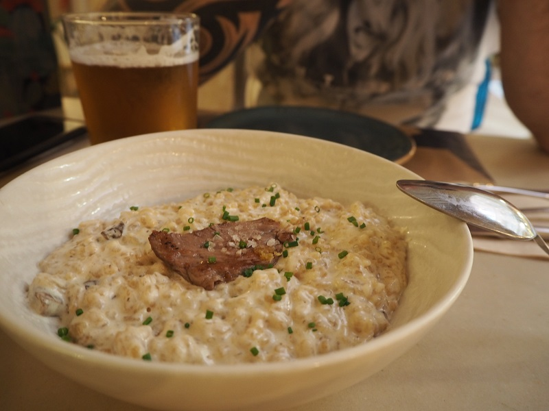 7 great places to eat in Seville - mushroom risotto