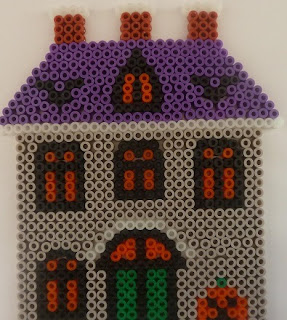 Hama bead haunted house