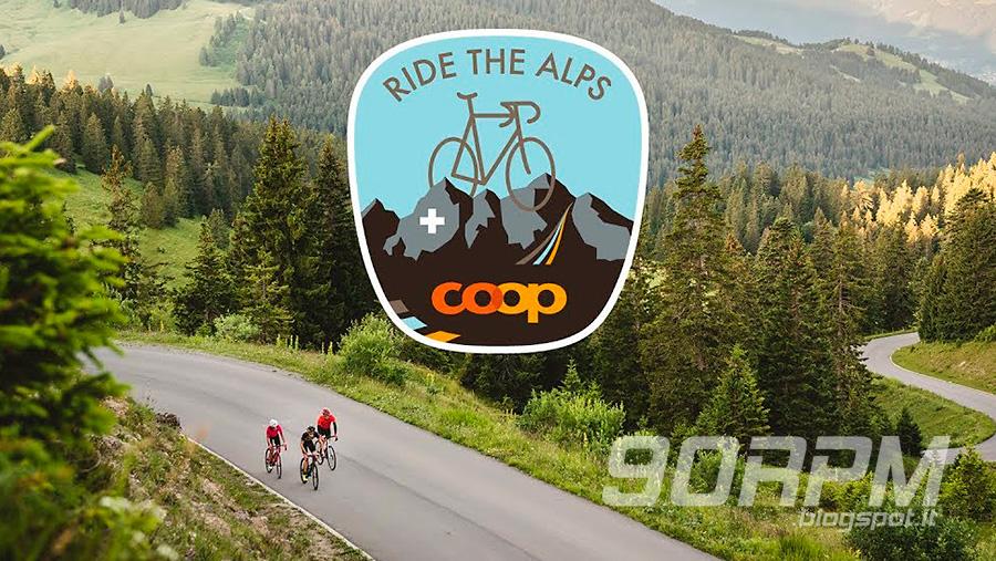 Logo Ride the Alps. Manifestazione in bici su passi alpini chiusi al traffico