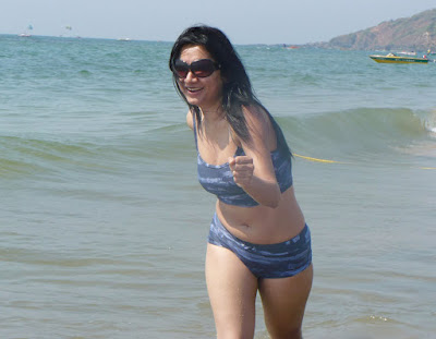 Goa Beach Girls In Hot Bikini Image