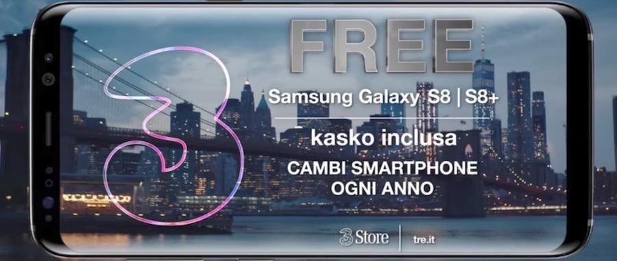 Canzone 3 (Tre) Pubblicità ALL-IN FREE Samsung S8 e S8 Plus, Spot Ottobre 2017
