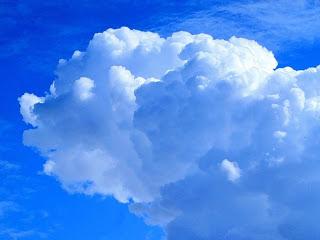Foto de nube con forma hermosas