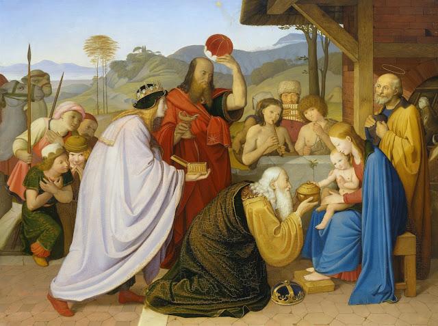 Friedrich Overbeck - La adoración de los magos - 1813
