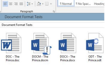 differenze doc docx dot dotm odt
