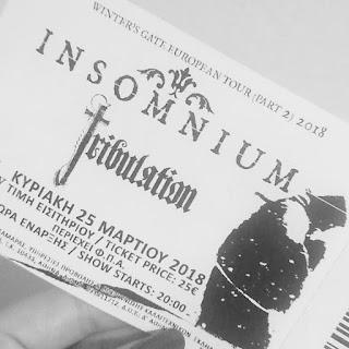poza biletului unui concert Insomnium din Grecia din acelasi turneu (martie 2018)