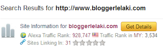 Alexa Rank September Blogger Lelaki