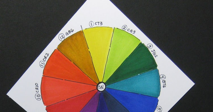 Trena S Stampin Headquarters Creating A Color Wheel With