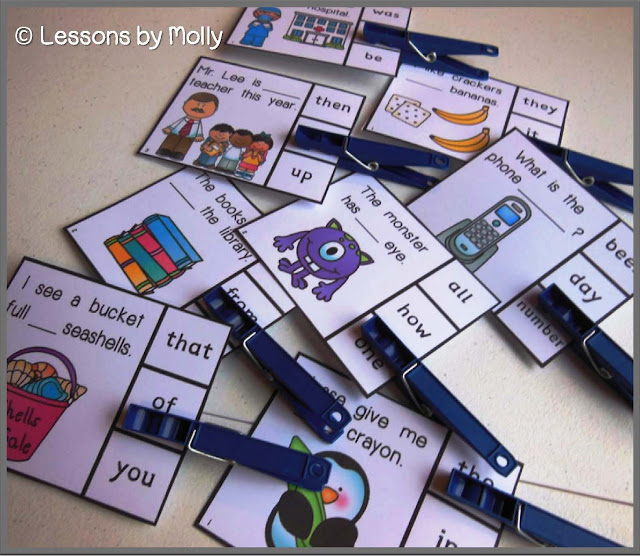 Lessons By Molly: Fluency Clip Cards
