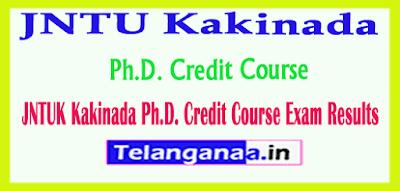 JNTUK Kakinada Ph.D. Credit Course Exam Results
