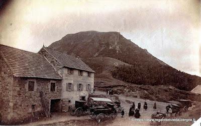 Hôtel du Col de Ceyssat vers 1895, Puy-de-Dôme.