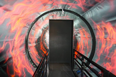 Flame tunnel at Tokyo One Piece Tower Japan