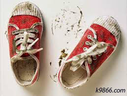 sepatu berlumpur