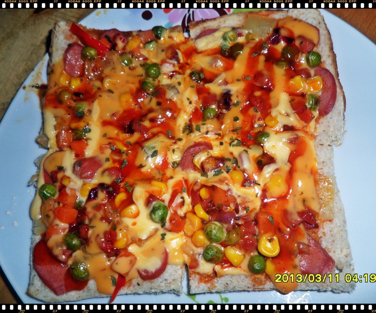 Resepi Pizza Roti Gardenia Guna Kuali Tutul Pal