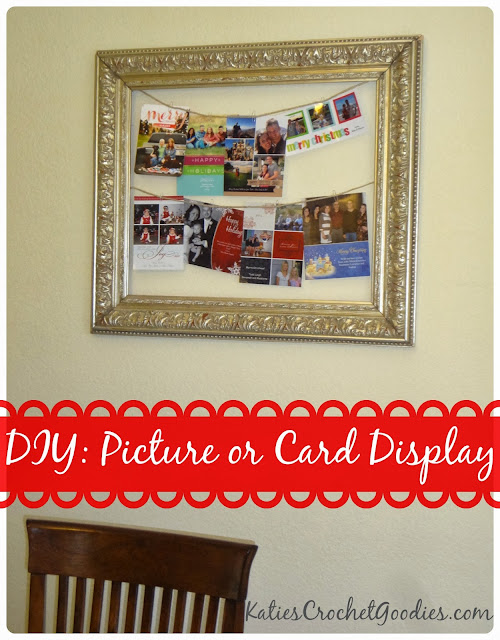 diy christmas card frame