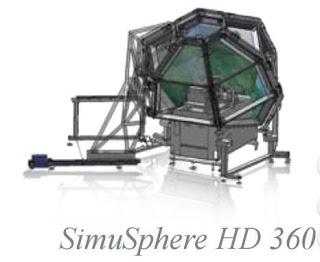 Визуальная система SimuSphere HD с полем обзора 360°