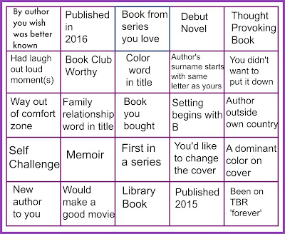 Full House Reading Challenge Grid 2016