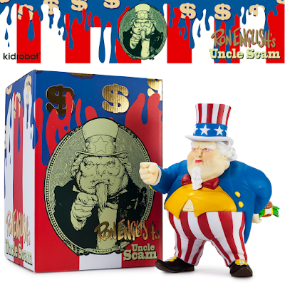 Red, White & Blue Edition Uncle Scam Vinyl Figure by Ron English x Kidrobot