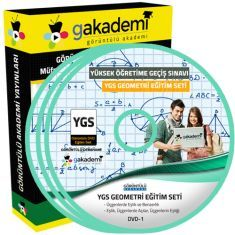 Görüntülü YGS Geometri Eğitim Seti 13 DVD