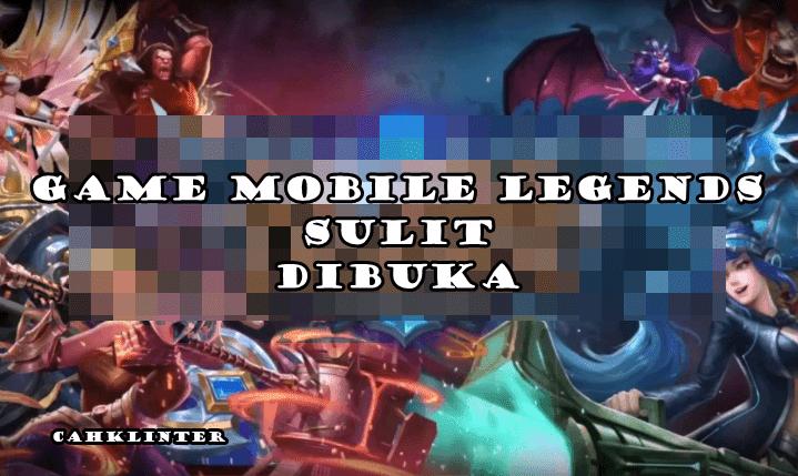 Mobile Legend Tidak Bisa Dibuka dan Cara Mengatasinya