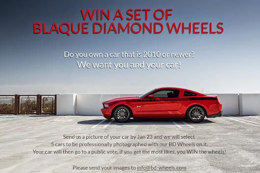 WIN WIN WIN - Win a Set of Blaque Diamond Wheels
