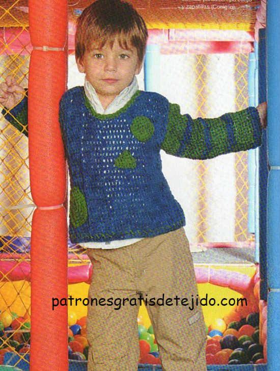 patrones-de-sueter-niño