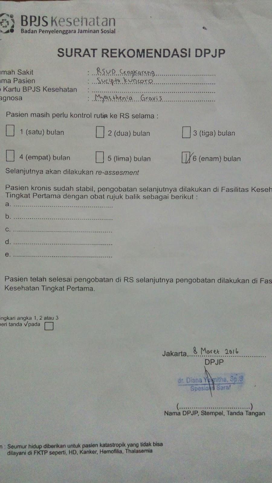 Perlukah Surat Rujukan Lagi Untuk Kontrol Sekaligus Berobat